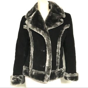Steve Madden suede/ faux fur coat